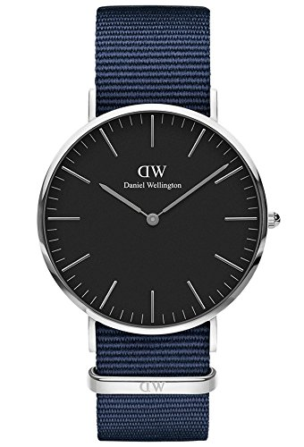 Daniel Wellington Unisex Adult Analogue Quartz Watch with Nylon Strap DW00100278