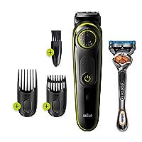 Braun BT 3241 Saç&Sakal Şekillendirici,Siyah&Yeşil,Kablosuz,Yıkanabilir, Kuru Kullanım + Gillette Hediye