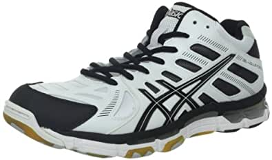 Asics B305Y Men's GEL-VOLLEYCROSS REVO Volleyball Shoes, White/Black/Silver, 8H/ UK:SIZE 7.5 D(M)