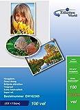 EtikettenWorld - Carta fotografica, formato 10 x 15 cm, 230g/mq, impermeabile, lucida, 100 fogli
