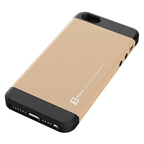 JETech Coque iPhone SE / 5s / 5 Housse Etui Deux-Parties Fine Protectrice (Noir) Or