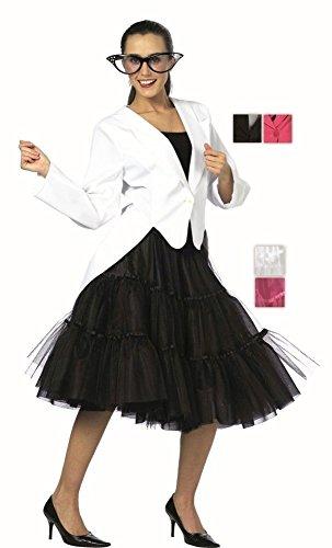 Blazer in schwarz für Damen | 44| 1-teiliges Jackett Kostüm | Frack Faschingskostüm für Frauen | Damen Frack für (Kostüme Frauen Schwalbenschwanz)