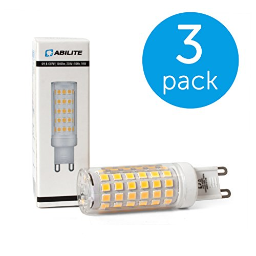 3-PACK Abilite LED-Lampe G9 / 10W (Äquivalent: 72W) / Abstrahlwinkel: 330°/ Maiskolben / Lichtfarbe: warmweiß (48802)