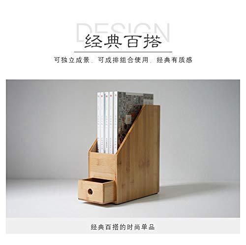 Archiviazione di archiviazione di file di desktop verticale di archiviazione file desktop di bambù di storage domestico creativo