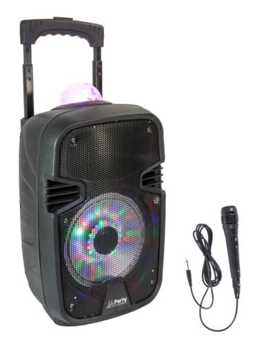 Party Light & Sound PARTY-7ASTRO Mobile Akku Sound Anlage mit Bluetooth/USB/MP3/SD/Mikrofon und integriertem LED Lichteffekt