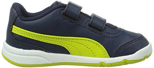 Puma Stepfleex Fs Sl V Kids, Chaussures de running mixte enfant Bleu (Peacoat-Sulphur Spring 03)