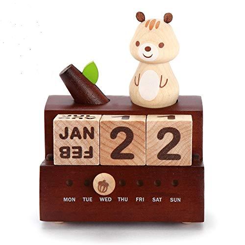 Home Beautiful Home Schönes Zuhause Der Valentinstaggeburtstagsgeschenk-Eichhörnchenkalender der hölzernen Spieluhrspieluhrmädchenkinder kreativ Mode