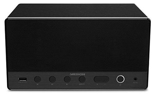 MEDION LIFE P61071 MD 43035 Lautsprecher Multiroom, Internetradio, WLAN/WiFi zur Einbindung ins Heimnetz, DLNA, USB, AUX-In, Steuerung über APP, schwarz