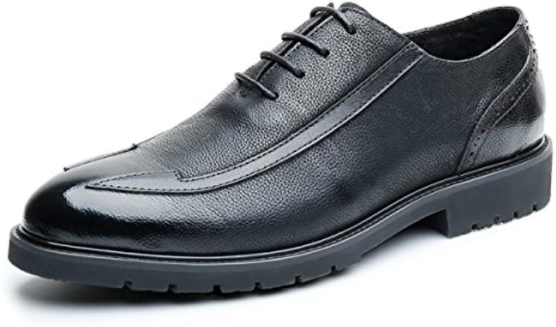 NBWE Herren Echtes Leder Kleid Schuhe Business Casual Schuhe