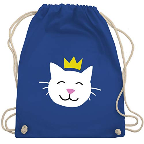 (Tiermotive Kind - Katze Prinzessin - Unisize - Royalblau - WM110 - Turnbeutel & Gym Bag)