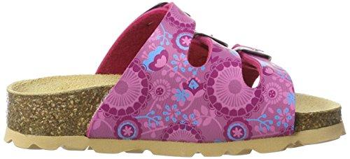 Superfit Fussbettpantoffel, Chaussons Mules fille Pink (Pink Kombi)