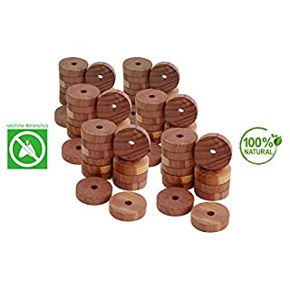 all-around24® Moth Rings Cedar Wood Moth Trap Protection Against Clothes Moths in Wardrobe and Home