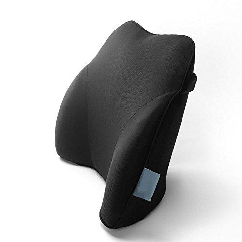 QLL HuanLeBao Auto Lordosenstütze Kissen Bürostuhl Rückenlehne Kissen für unterer Rücken , Black