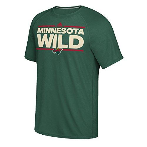 Climalite Performance T-shirt (adidas Minnesota Wild NHL Dassler Climalite Performance S/S T-Shirt)