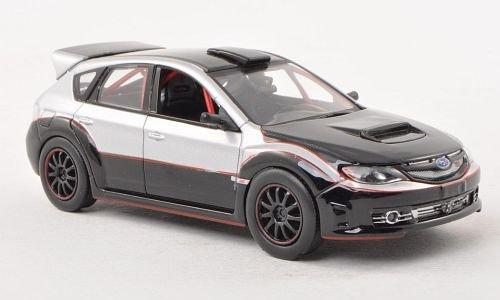 subaru-impreza-wrx-sti-schwarz-silber-fast-furious-2009-modellauto-fertigmodell-greenlight-143
