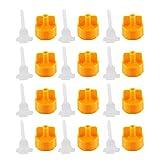 MagiDeal 100 Satz Praktische Kunstoff Fliesenverlegung Fliesen Verlegehilfe Nivelliersystem Caps Kappen + Slot Typ Strap Zuglaschen