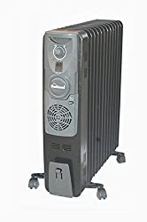 SUNFLAME 9 FIN OIL FILLED RADIATOR HEATER ( BLACK )