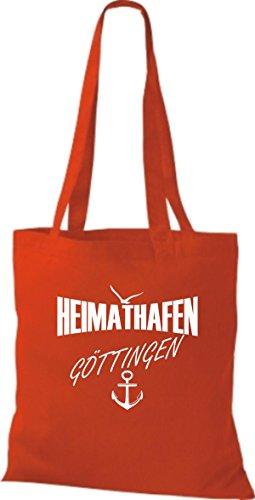 Shirtstown Stoffbeutell Heimathafen Göttingen viele Farben Rot