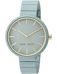 Nine West Women's NW/2012BLBL Matte Blue Rubberized Bracelet Watch