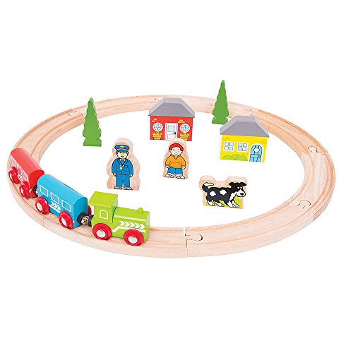 *Bigjigs Rail Holzeisenbahn-Set–erstes Eisenbahn-Set*
