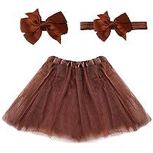 6211cb63f0 Vestido de tutú de color sólido para niños falda de tutú de tul esponjoso  para
