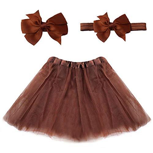 (xbwwt Kleinkind Kinder Baby Mädchen Sonnkleid Lovely Pullover Rock Party Kleid Casual Strand Kleid (Send Stirnband) braun braun)