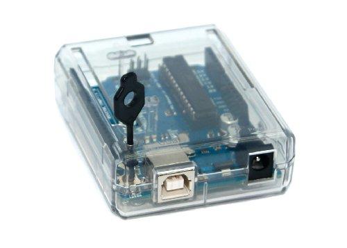 412 lwqDpjL - SB Components Uno R3 case Clear - Caja para Arduino Uno R3, transparente