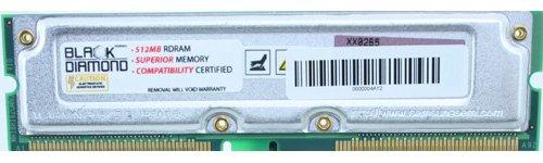 512MB Speicher RAM für Dell Dimension 8250(533FSB), 82502,66G, 82503.06G 184pin PC106632NS 1066MHz RAMBUS RDRAM RIMM Black Diamond Arbeitsspeicher Upgrade - Kingston Ram-speicher