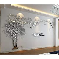 LAIKASHI Wall Stickers 3D Wolf Sticker Removable for Kidsroom for Livingroom Wall TV Wall Room Decor Mirror Wall Art Decoration 3D Wall Stickers Murals