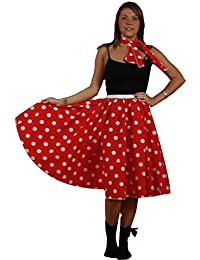 Full Circle Rock N Roll Skirt And Neck Tie 22 inch long