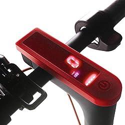 SMILEQ Panel de Tablero de Tablero a Prueba de Agua para Xiaomi M365 Scooter eléctrico (Rojo)