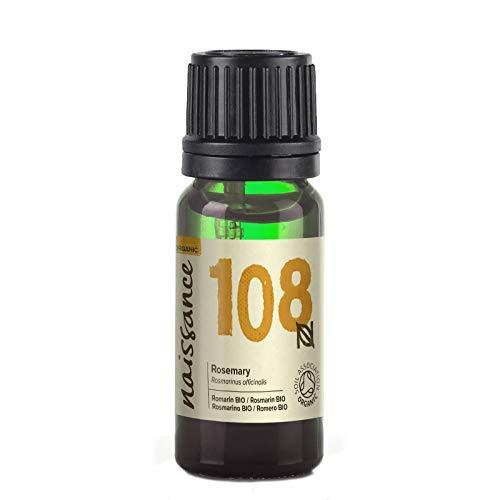 Naissance olio essenziale di rosmarino biologico 10ml - puro, naturale, certificato biologico, cruelty free, vegan, distillato a vapore e non diluito - aromaterapia e massaggio - aroma fresco