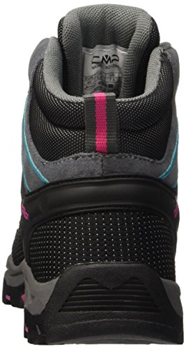 CMP - F.lli Campagnolo Rigel, Chaussures de Randonnée Hautes Garçon Grau (Grey-Fuxia-Acquario 096Q)