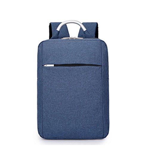 DEjh Laptop-Rucksack für die Arbeit beim Bergsteigen mit großem Fassungsvermögen für den Einsatz im Büro (Farbe : Blau)