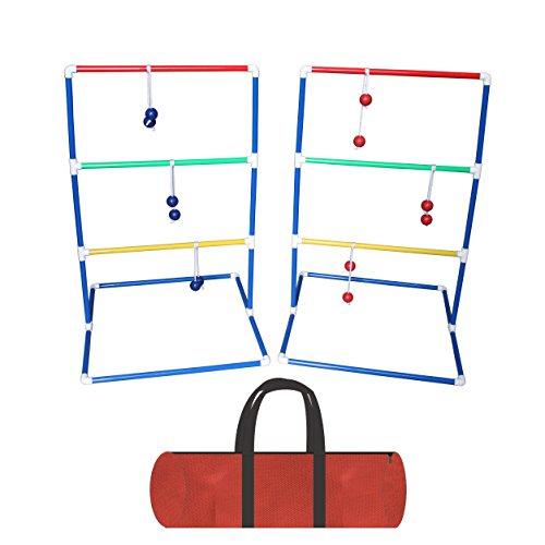 r Toss Spiel, Leiter Golf Ball Werfen Tür ideal für Camping Spiel, 6Paar Pack (3Paar Blau und 3Paar Rot) mit 2* Regalen und Tragetasche (Ladder Ball Bälle)
