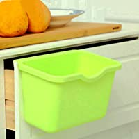 Creative contenitori, Multifuctional Cestino in plastica, veicoli, da appendere, Ideal Cestino per raccolta differenziata, secchio sole ciotoline possono container, il compostaggio-Bidone spazzatura con bidone, Set da 3, plastica, Verde, 8.4L x 5.4H x 5W