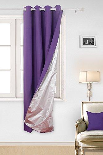 Deconovo Rideau Doublure Isolante Thermique à Oeillets Rideau Isolant Thermique Doublure pour Salle à Manger 135x240cm Violet