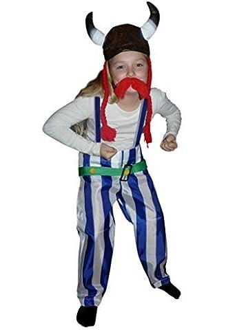 Costume Gaulois - TO08 Gallier costume Gr. 108-115 INCLUS casque