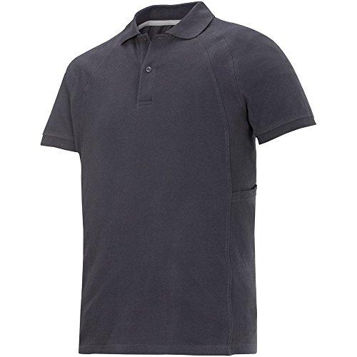Snickers Classic Poloshirt grau Größe: L stahlgrau