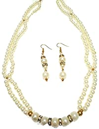 Dual Line Freshwater Pearl Necklace For Women