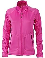 James & Nicholson–Stretchfleece Jacket Chaqueta, mujer, Stretchfleece Jacket, pink/fuchsia, XL