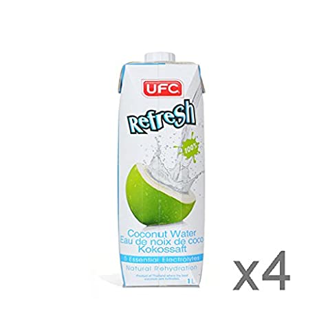 UFC Refresh 100% Natural Coconut Water 1L x4