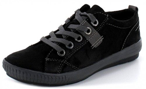 MARCO TOZZI Damen Halbschuh Sneaker in schwarz mit herausnehmbarer Innensohle Schwarz