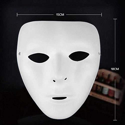 Kostüm Heiße Männer - HEOWE Cosplay Halloween Festival PVC Weiße Maske Party Spielzeug Einzigartige Full Face Dance Kostüm Maske für Männer Frauen für Geschenk Heiße Neue @ for_Women