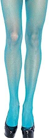 Leg Avenue lycra collants résille femmes néon bleu taille de l'unité transparente sur les 38 à 40