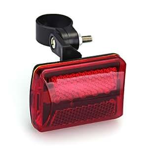 CARCHET® Phare Lampe Feu Arrière 5 LEDs Rouge Pour Vélo Bicyclette