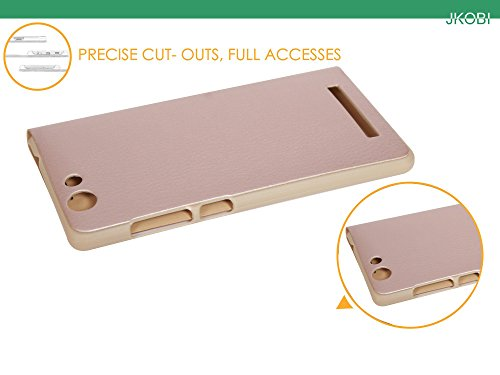 Jkobi Leather Flip Flap Case Cover For Gionee F103 Pro -Gold