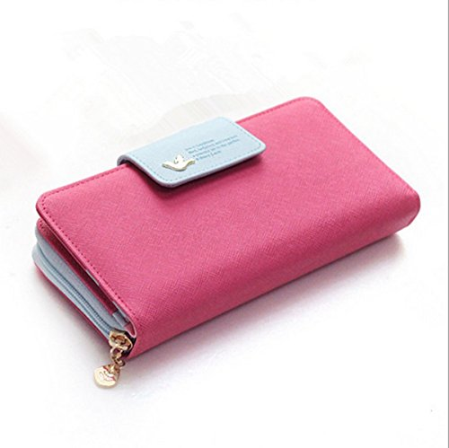 Eysee, Borsetta da polso donna Rosso blu 19cm*9cm*3cm dunkel rosa