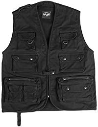 Mil-Tec Moleskin Fishing Vest Black