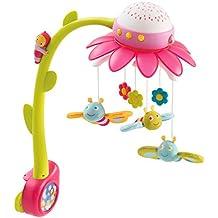 Smoby 110112 - Cotoons Blumen Mobile mit Deckenprojektor, rosa